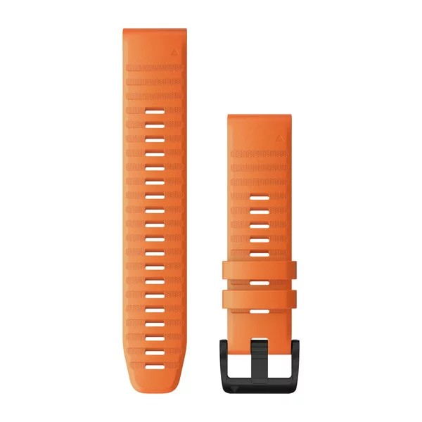 Bracelets QuickFit - 22mm Silicone orange pour  Garmin Quatix 6