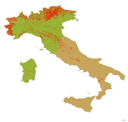 carte gps topo italie